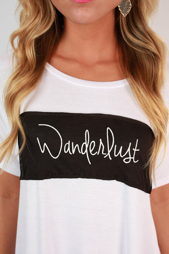 Wanderlust Patch Tee