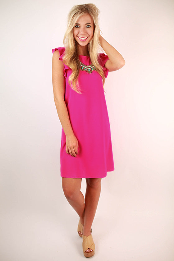 So Refreshing Shift Dress in Hot Pink