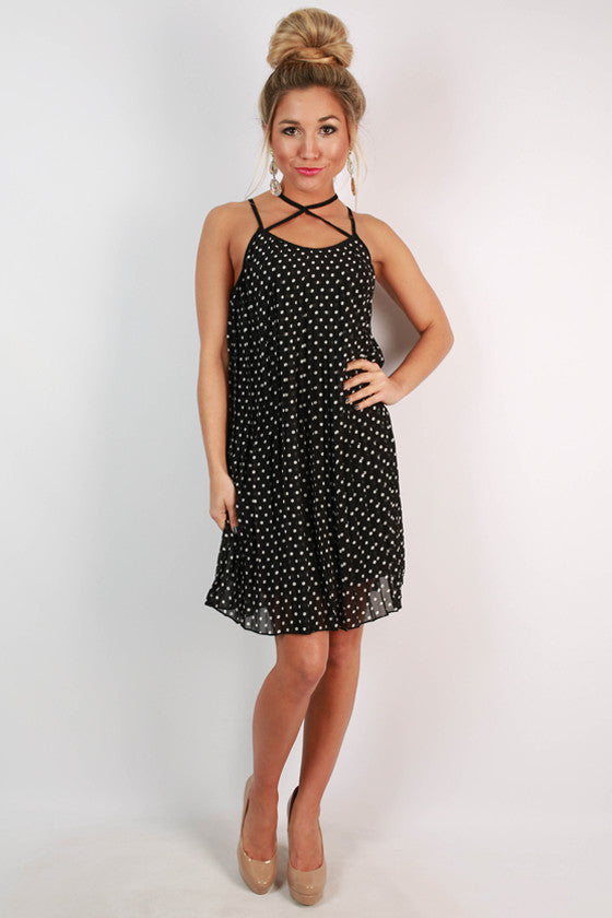 Possibly Perfect Polka Dot Dress in Black