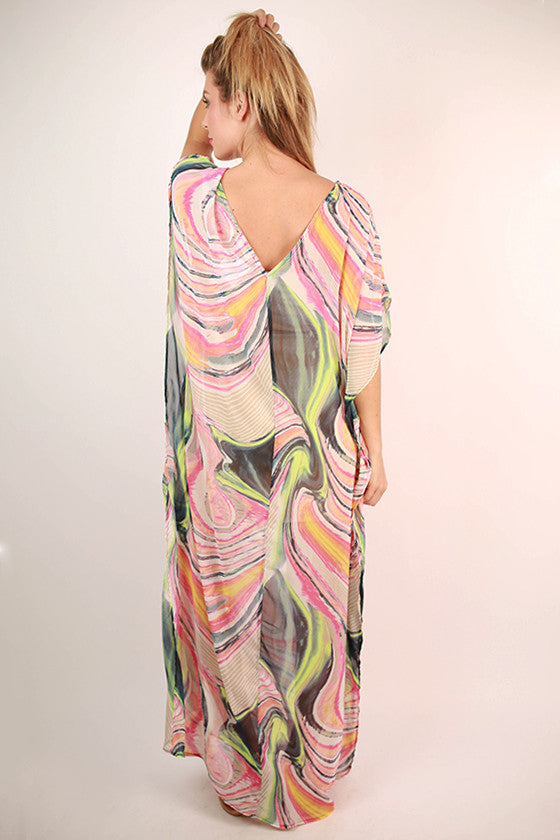 Feeling Groovy Caftan Maxi Dress