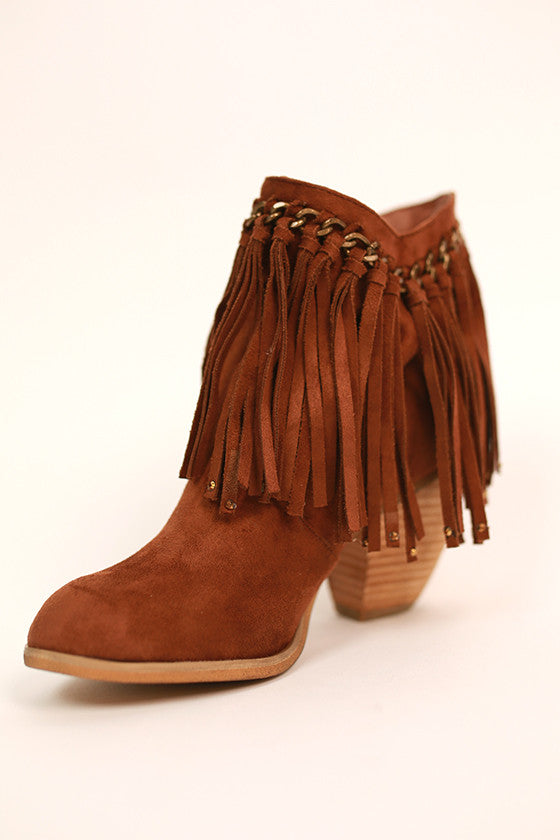 Ayita Bootie in Brown