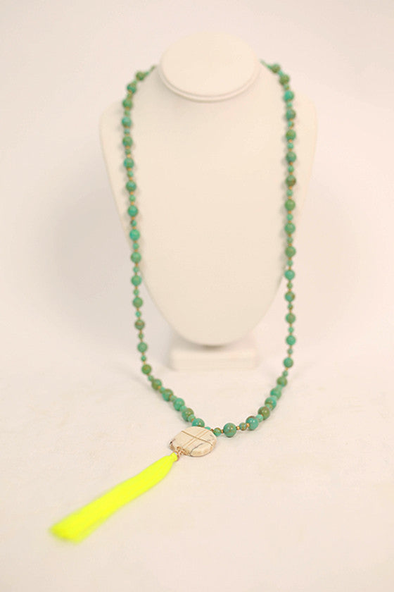 Jewel of the Sea Necklace in Turquoise