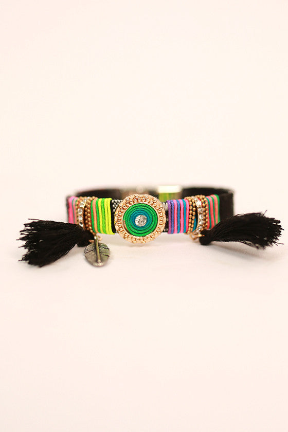 Bohemian Queen Bracelet in Black
