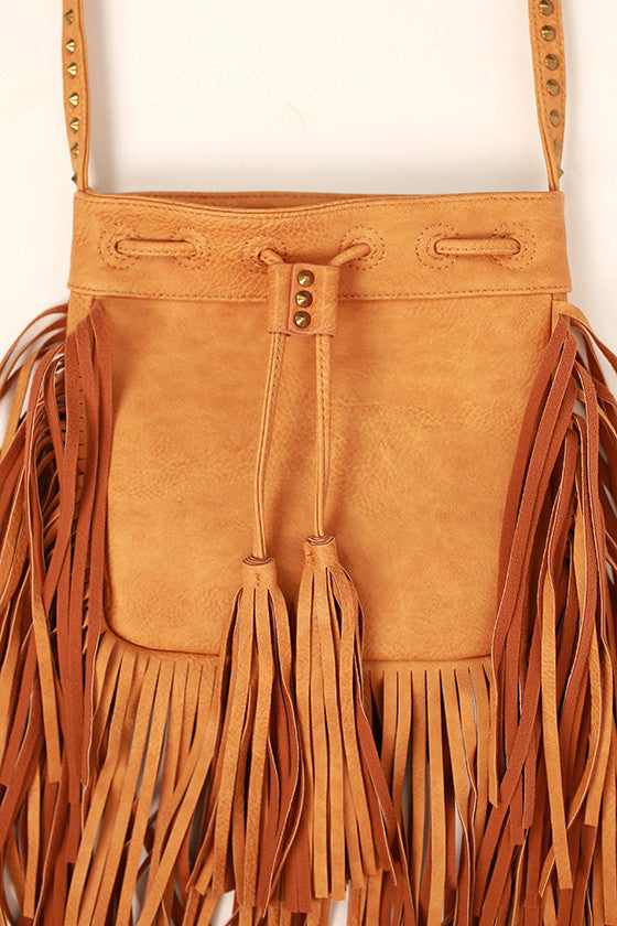 Fringe Stud Cross-Body Purse