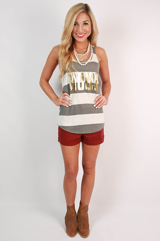 HOGS Gold Foil Stripe Tank