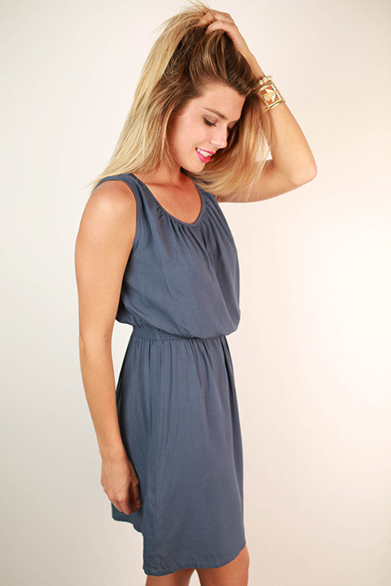 Piko Classic Dress in Slate