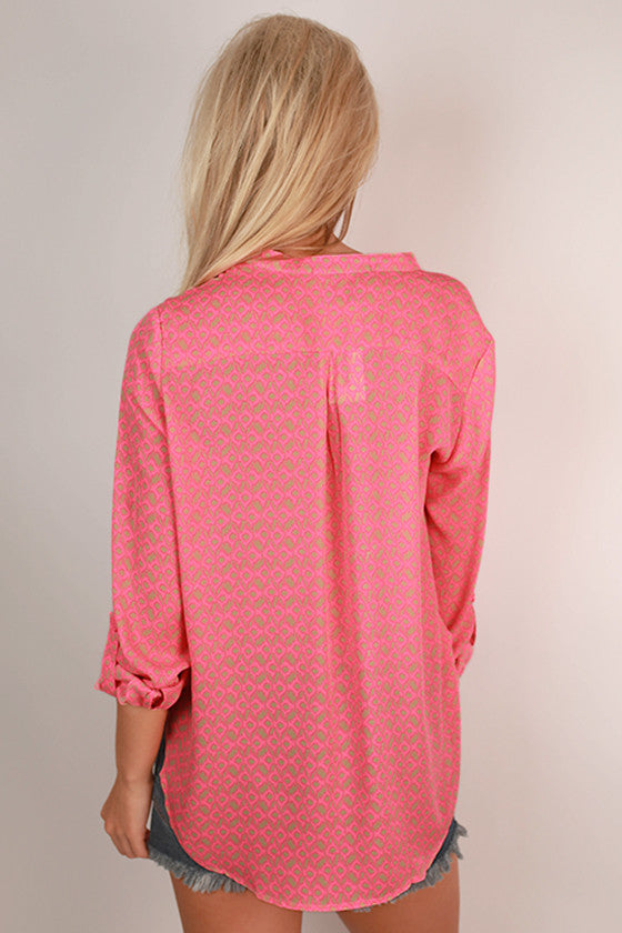 Just For You Top in Neon Pink