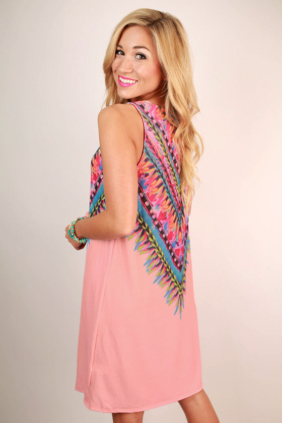 Sangria Sipping Dress in Baby Pink