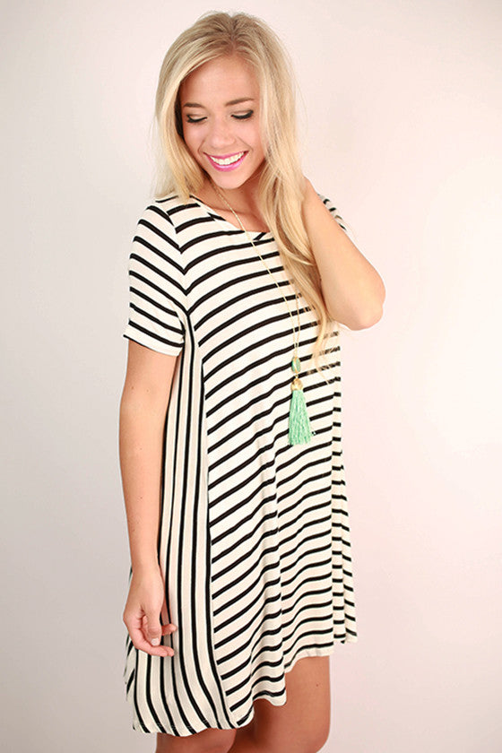 Style My Way Stripe Dress in Ivory