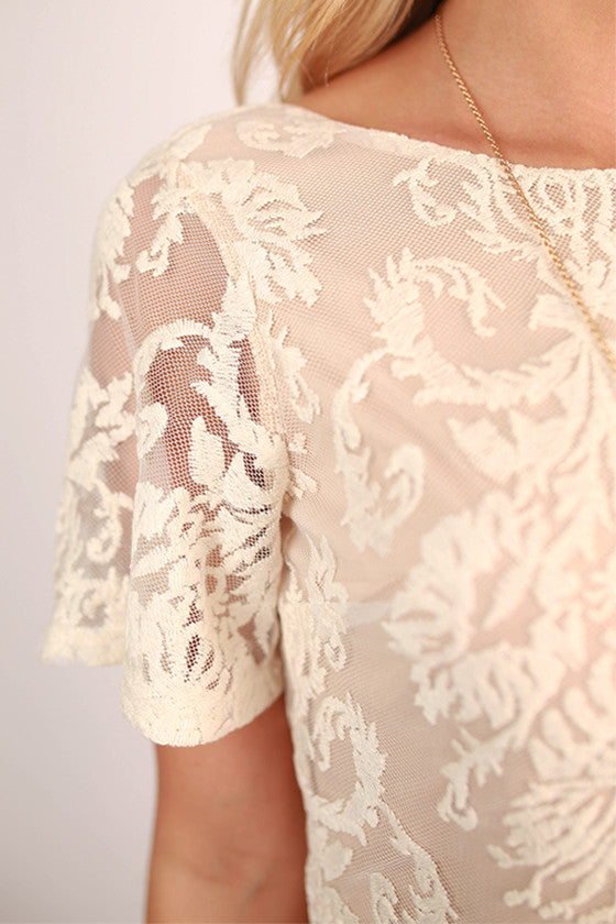 I'm Smitten Open Back Lace Dress