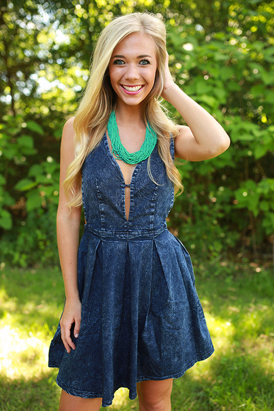 All Dolled Up Chambray Dress