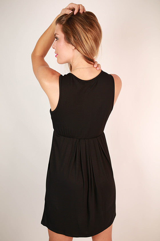 Pocket So Perfect Tank Dress in Black