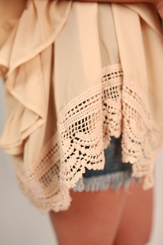 Sweet for Soho Ruffle Overlay in Beige