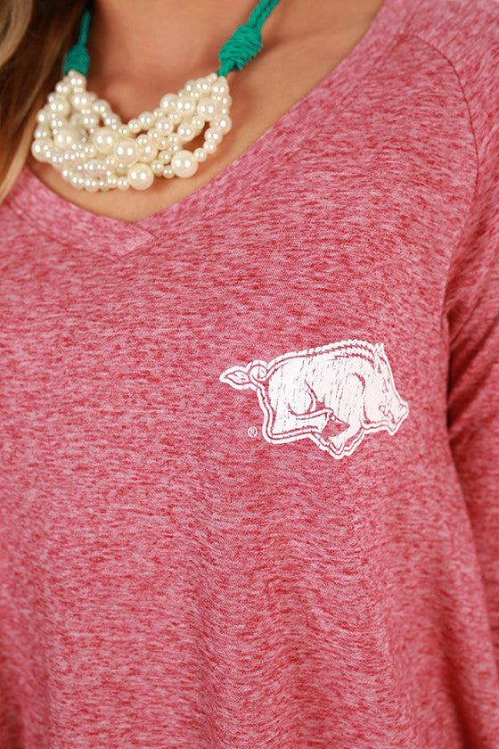 Little Razorback V-neck Hi-Lo Top