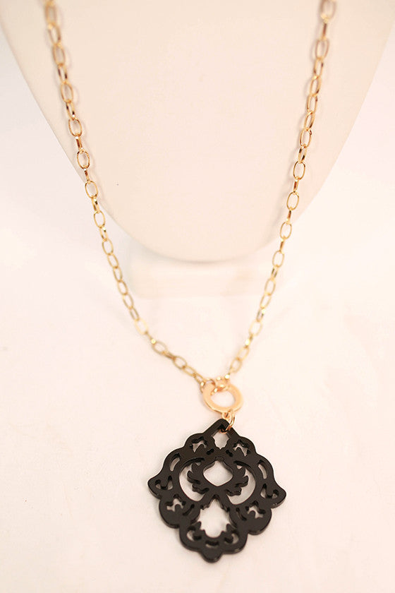 Cool Capri Necklace in Black