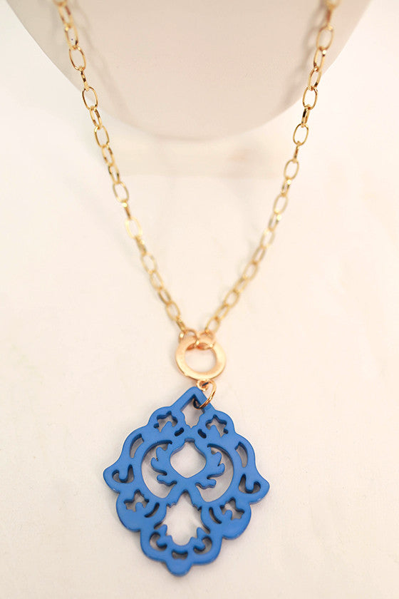 Cool Capri Necklace in Blue