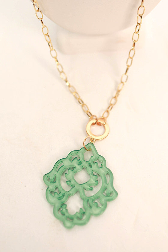 Cool Capri Necklace in Ocean Wave
