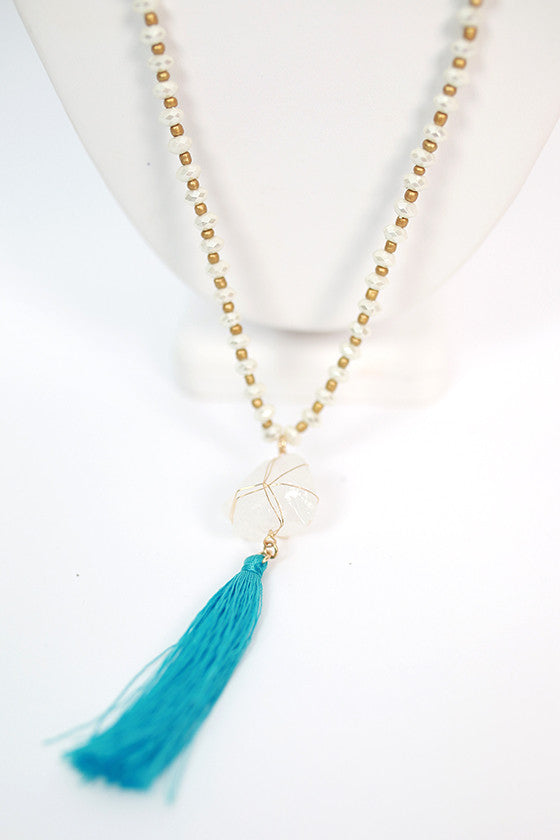Dancing Queen Necklace in Electric Blue