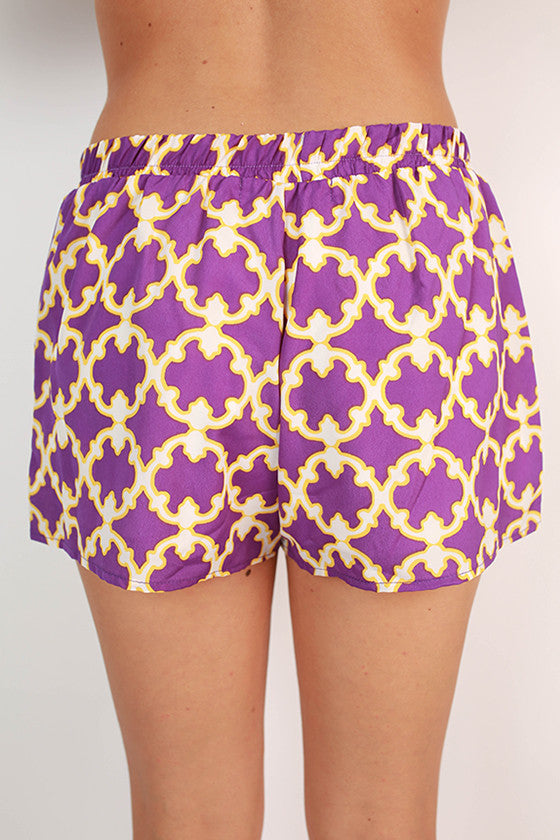 Go To Girl Shorts in Purple