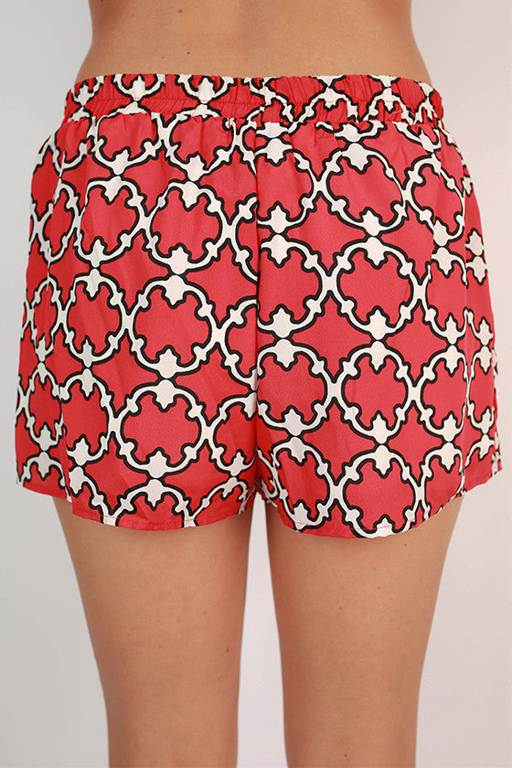 Go To Girl Shorts in Red
