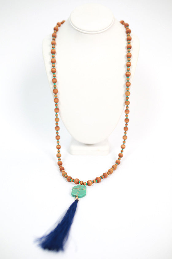 Jewel of the Sea Necklace in Brown