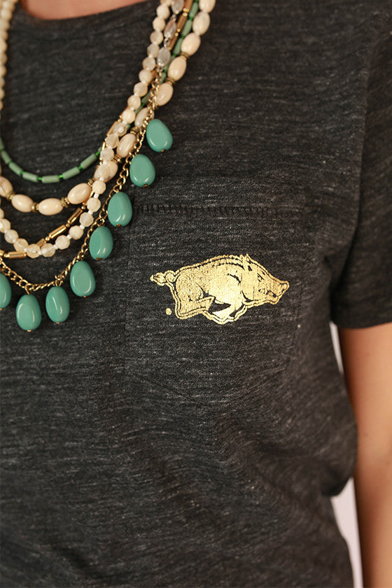 Razorback Pocket Tee