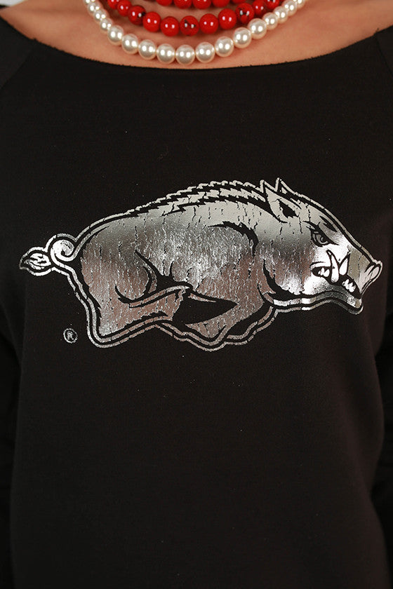 Silver Razorback Terry Top