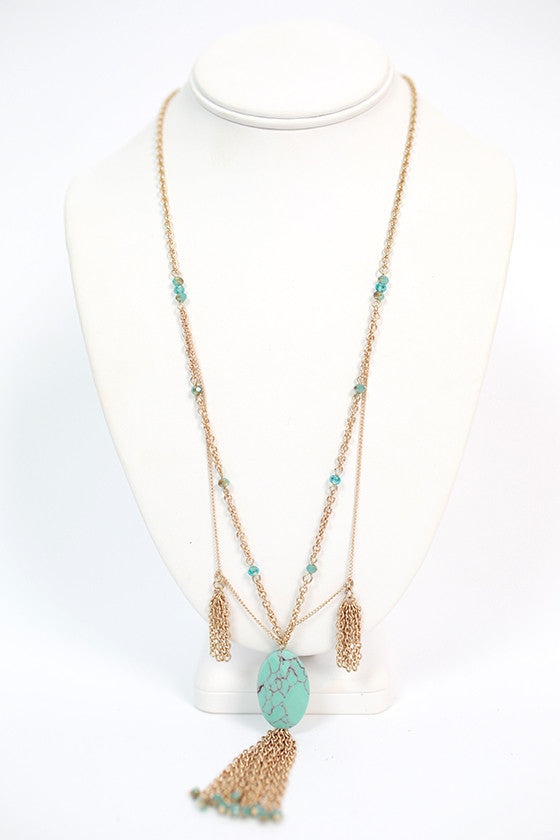 First Class To Paradise Tassel Necklace