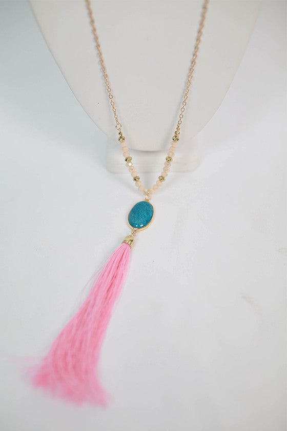 Bahama Beaches Tassel Necklace