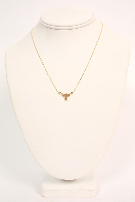 Dainty Longhorn Necklace
