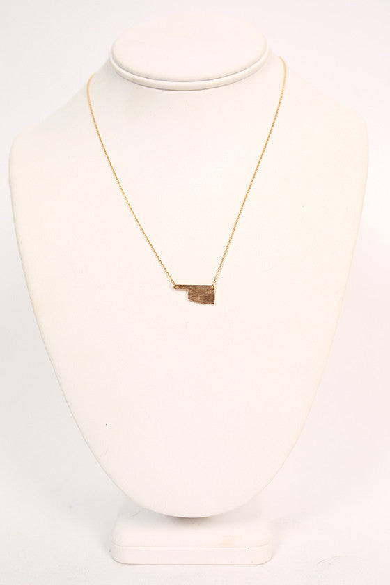 Dainty Oklahoma Necklace