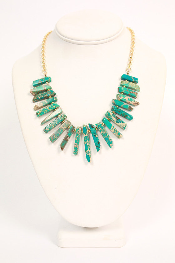 Feeling Dramatic Necklace in Turquoise