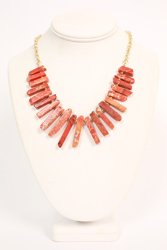 Feeling Dramatic Necklace in Tangerine