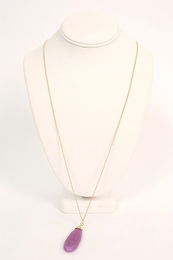 Top Me Off Timeless Necklace in Royal Lilac