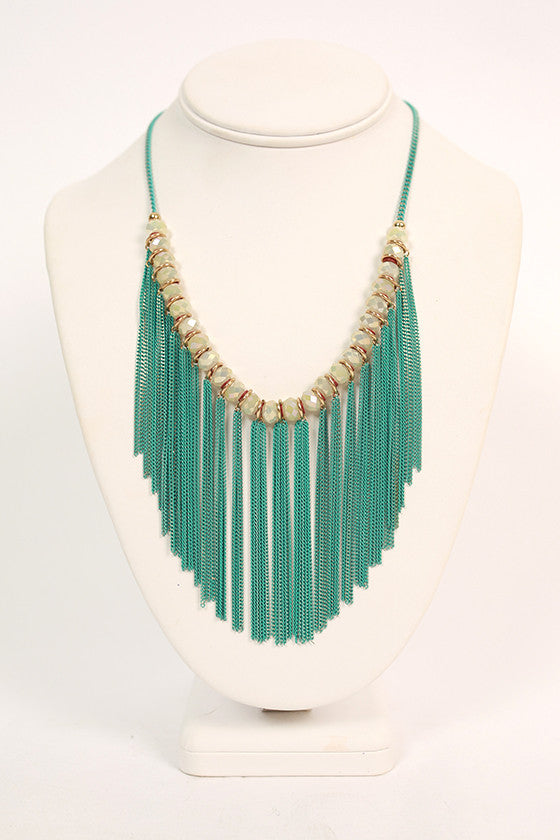 Date Under the Stars Necklace in Aqua