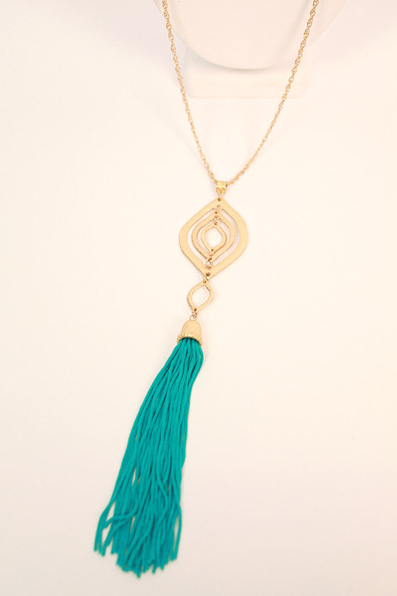 Picnics & Pinot Tassel Necklace