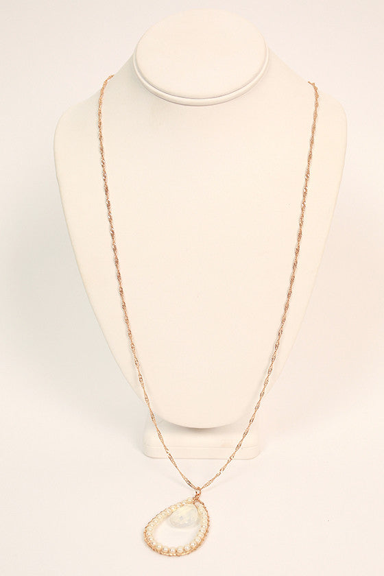 Pearls & Juleps Necklace in Clear