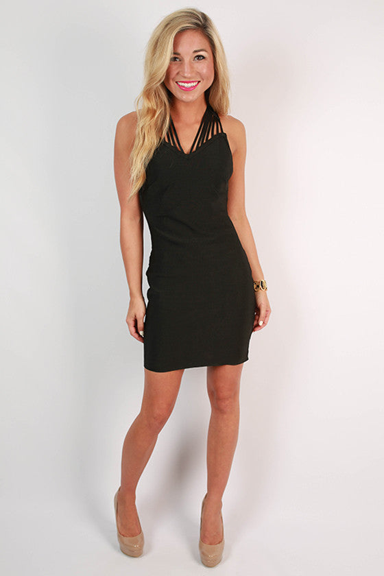Soho Starlet Bodycon Dress in Black