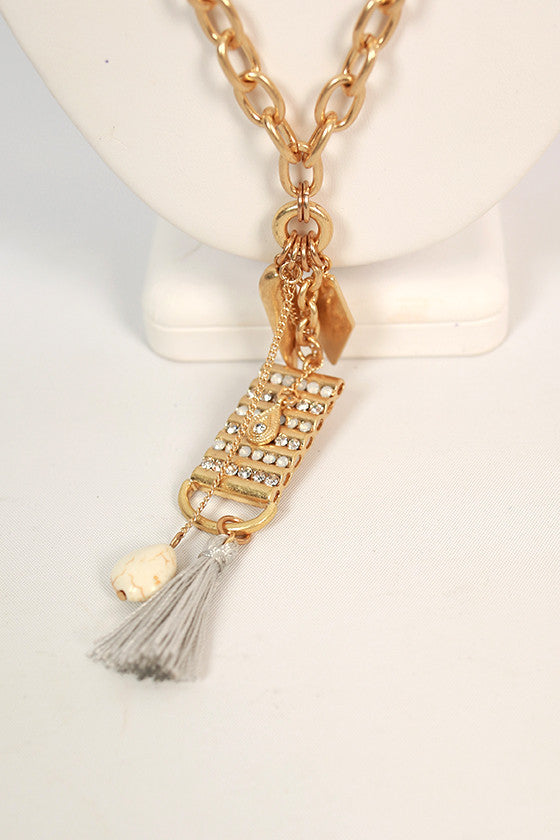 Better Than Dreaming Tassel Necklace in Silver