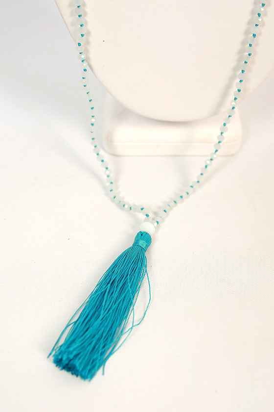 Soho Sweet Shop Tassel Necklace in Ocean Blue