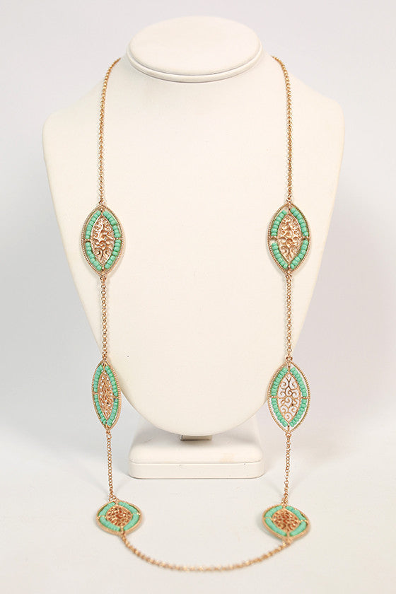 Paint The Town Luxe Necklace in Mint
