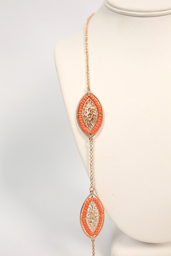 Paint The Town Luxe Necklace in Orange