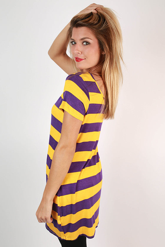 Southern Stripes Tunic in Purple