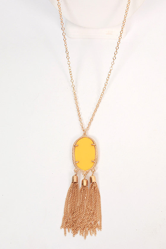 Keeping Traditions Necklace in Yellow