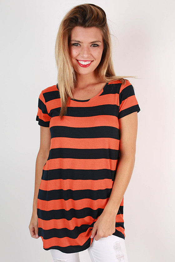 Southern Stripes Tunic in Navy