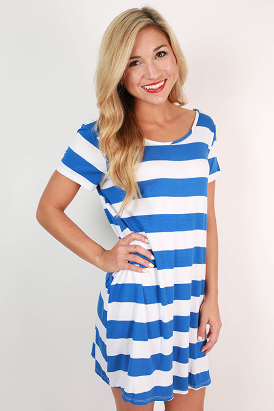 Southern Stripes Tunic in Blue