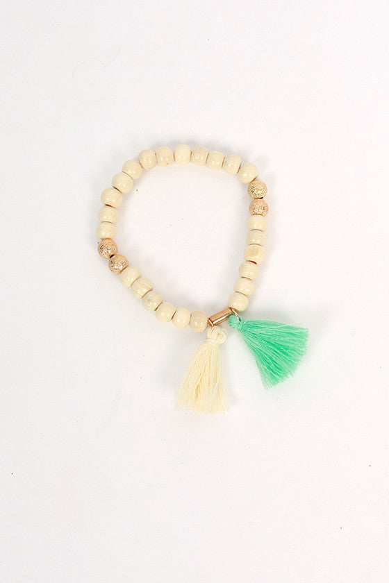 Boho Love Stacking Bracelets in Ivory