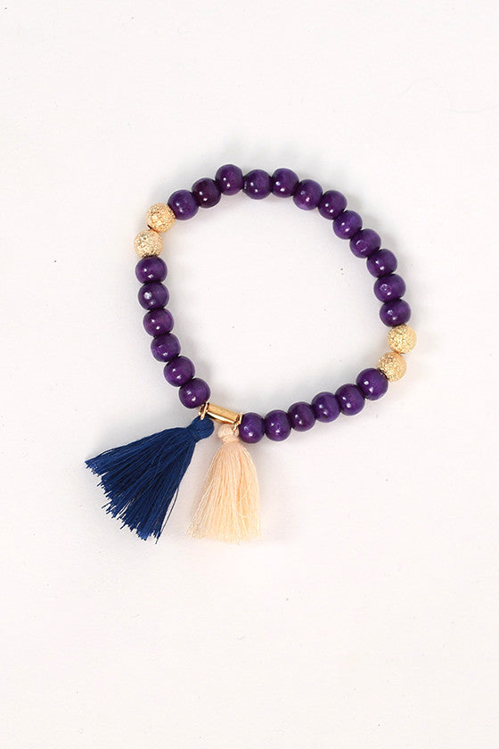 Boho Love Stacking Bracelets in Royal Blue