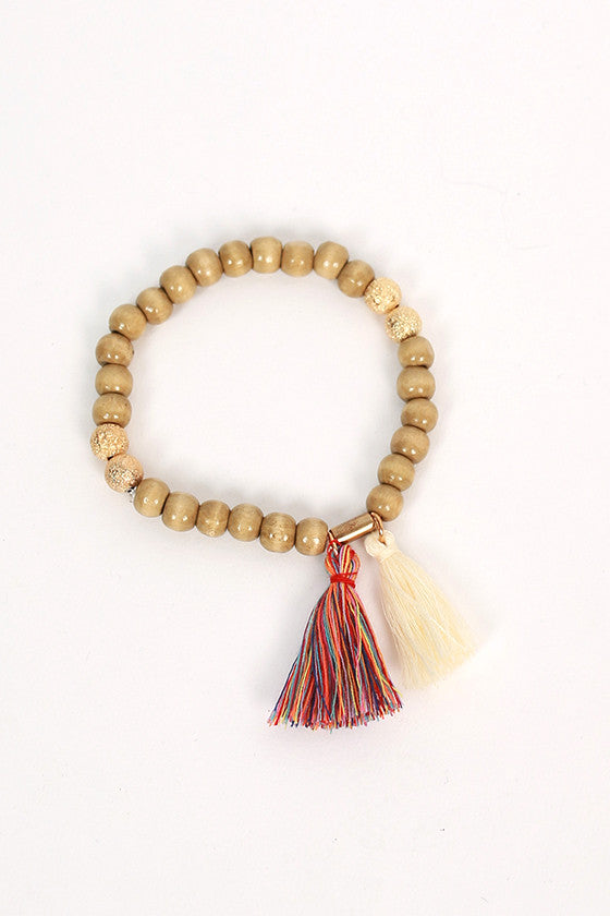 Boho Love Stacking Bracelets in Taupe