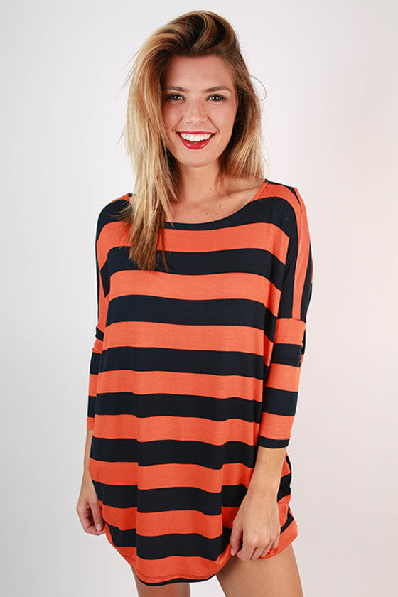 Southern Stripes Top in Navy